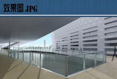 市民艺术中心建筑中庭效果图