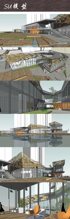 商业地产建筑景观SU