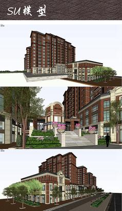 小区公馆建筑景观