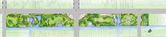 通州某公路景观设计平面图