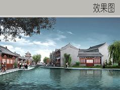 古典建筑水景效果图