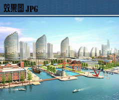 船厂景观效果图