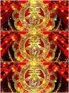 超大气中国风新年LED大屏幕