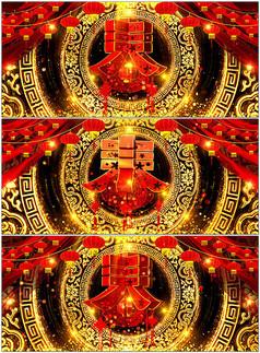 新年春节春字logo视频