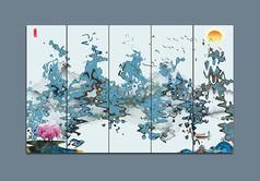 抽象水墨中式装饰画