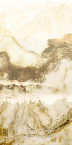 山水风景天然大理石纹玄关