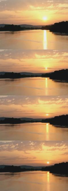 霞光湖色唯美視頻素材