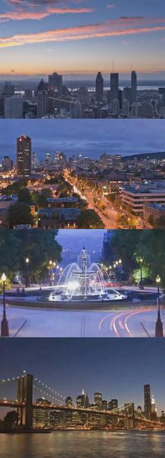 城市美景視頻素材