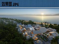 滨海度假村鸟瞰效果图