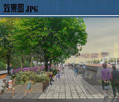 广场道路景观效果图