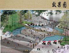 水景广场景观效果图