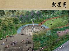 雕塑广场效果图