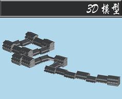 黑瓦古建群3D模型