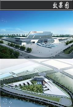 广汽公司建筑效果图
