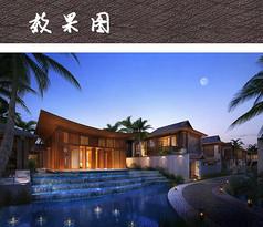 精美中式酒店建筑