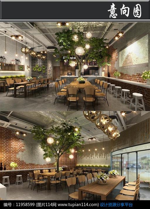 [原创] 森林主题咖啡厅意向图