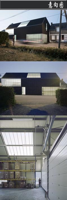 黑色竖条创意建筑意向图