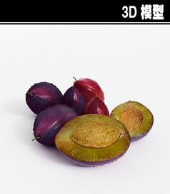 李子3D模型