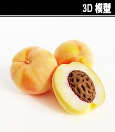 桃子3D模型