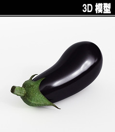 茄子3D模型