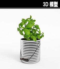 植物盆3D模型