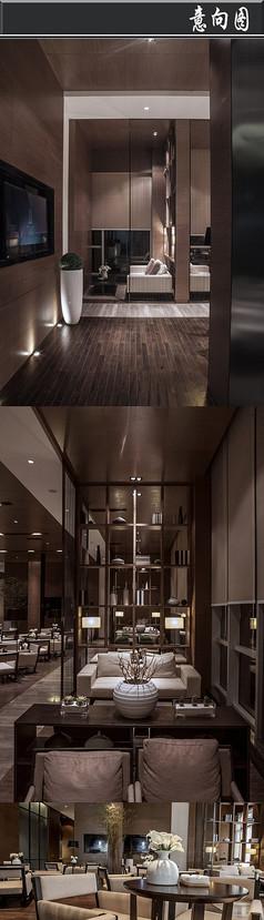 全木日式风格售楼处意向图