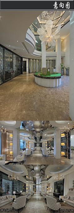 上海白色大理石售楼处意向图