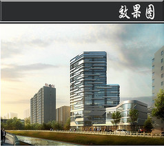 北京某高层办公楼效果图