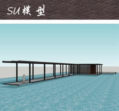 现代中式休闲廊架