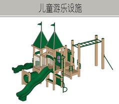 绿色城堡儿童游乐设施