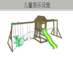 绿色木质游乐设施
