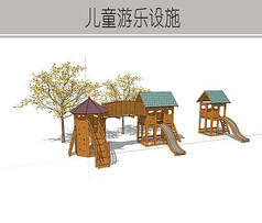 木制房屋儿童游乐设施