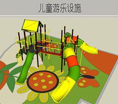 亮色儿童游乐设施
