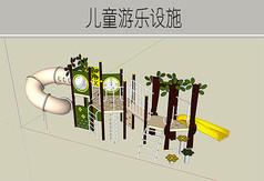 绿色游乐设施模型