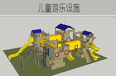 木质城墙儿童游乐设施