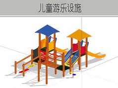 暖色儿童游乐设施