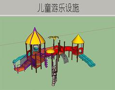色彩丰富的儿童游乐设施