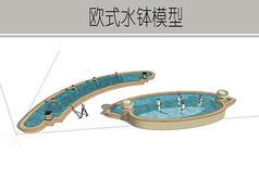 弧形道路喷泉