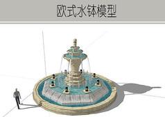 螺旋欧式喷泉模型