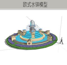 欧式圆形大型喷泉