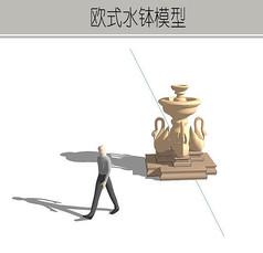 仙鹤雕塑水钵
