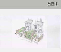 日式别墅入户景观