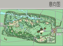 公园绿地彩平图