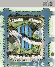 花园小区规划彩平图
