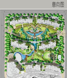 国际花园规划彩平图