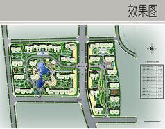 住宅区规划彩平图