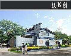 深圳某公厕垃圾站效果图