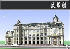 社报局办公楼建筑效果图