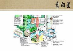 别墅庭园景观局部平面