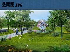 阳光草坪效果图